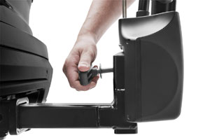 The hitch switch of the Thule Vertex hitch rack carrier