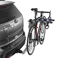 Thule Helium Aero 9043 Hitch Mount 3-Bike Carrier mounted with bike
