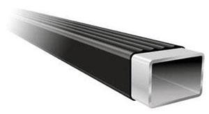 A square Thule Thule LB58 load bar illustration showing the polyethylene coating