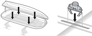 Thule Easy-Grip cargo box mounting hardware