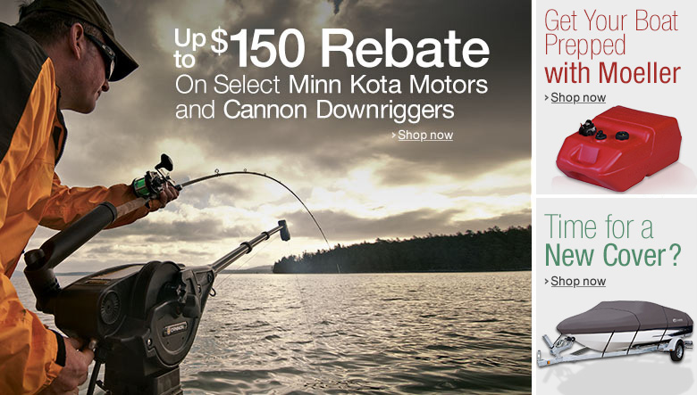 Up to $150 Rebate On Select Cannon Downriggers