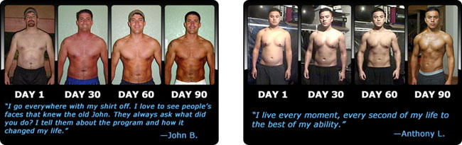 Extreme home fitness p90x nutrition plan