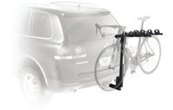 The Parkway 4-Bike Hitch Mount Carrier Rack mounted on a car