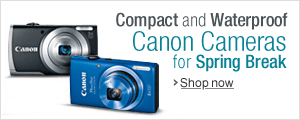 Compact and Waterproof Cameras for Spring Break