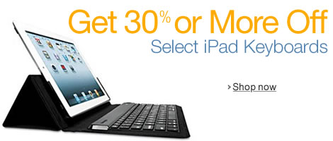 Get 30% or More Off Select iPad Keyboards