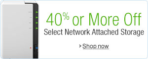 40% or More Off Select Network Attached Storage