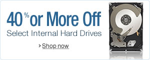 40% or More Off Select Internal Hard Drives