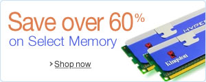 60% or More Off Select Computer Memory