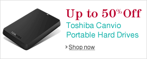 Up to 50% Off Select Toshiba Canvio Basics Portable Hard Drives