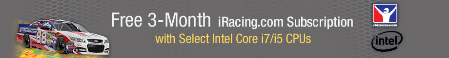 Free 3-Month iRacing.com Subscription with Select Intel Core i7/i5 CPUs