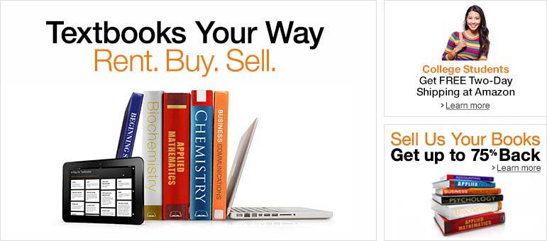 Textbooks Your Way: Rent. Buy. Sell.