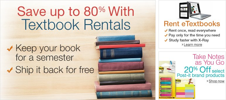 Renting Textbooks from Amazon? Don't Bring Them Across ...