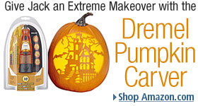 Dremel 764-04 Pumpkin Carving Kit includes 6-Volt Minimite Cordless Rotary Tool and 10 Templates