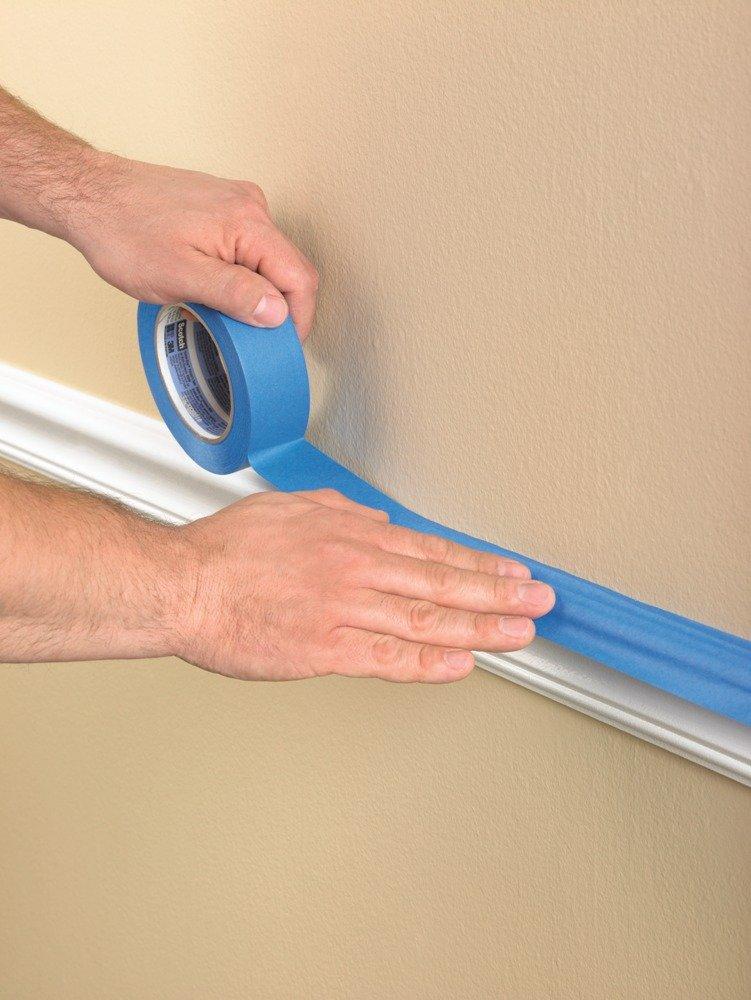 Blue Scotch Tape Painting