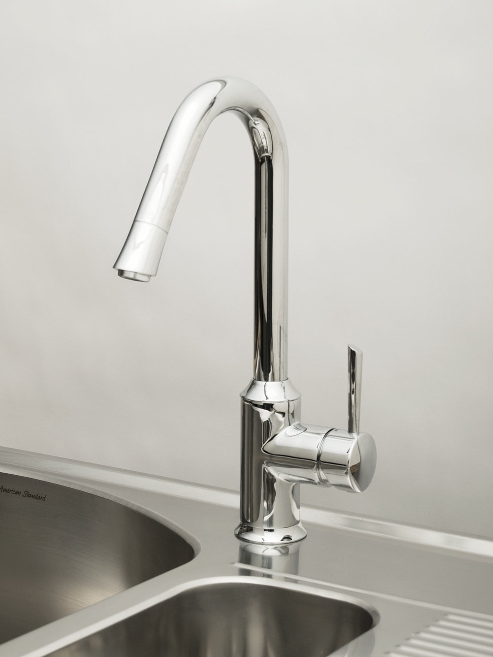 The American Standard Pekoe pull-down kitchen faucet will keep its ...