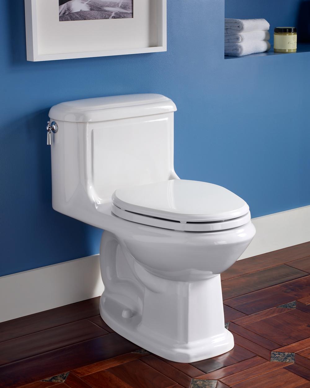 Bathroom Toilet : ... .222 Antiquity Cadet One-Piece Toilet with Seat, Linen - - Amazon.com