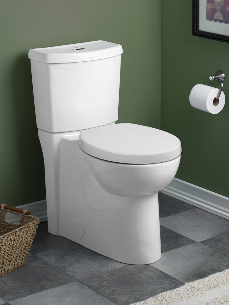 Part of American Standards Studio collection, this toilet saves water ...