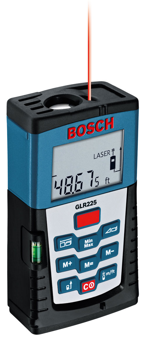 bosch glr225 laser distance measurer construction distance estimators. Black Bedroom Furniture Sets. Home Design Ideas