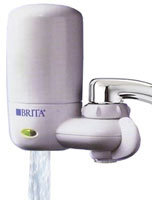Brita faucet filtration system in white