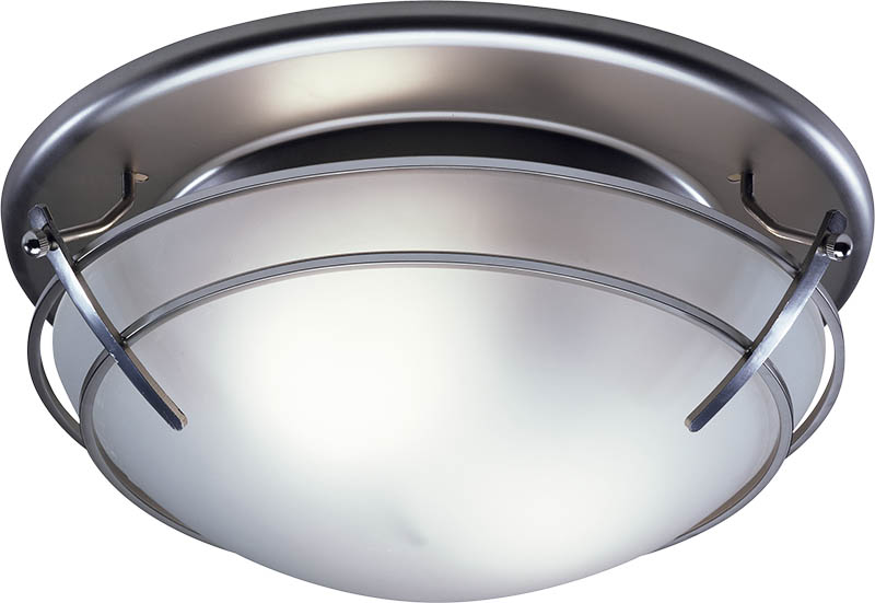 Broan 757sn bathroom ceiling fan light with frosted glass - Round bathroom exhaust fan with light ...