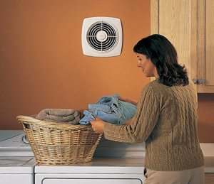 Broan Model 509S 8-Inch Through-Wall Utility Fan with Integral