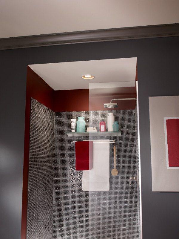 Bathroom recessed lighting with fan : Broan cfm recessed watt bulb fan