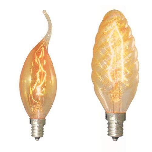 Bulbrite NOS15CFA 15W Nostalgic Flame Tip Chandelier Bulb