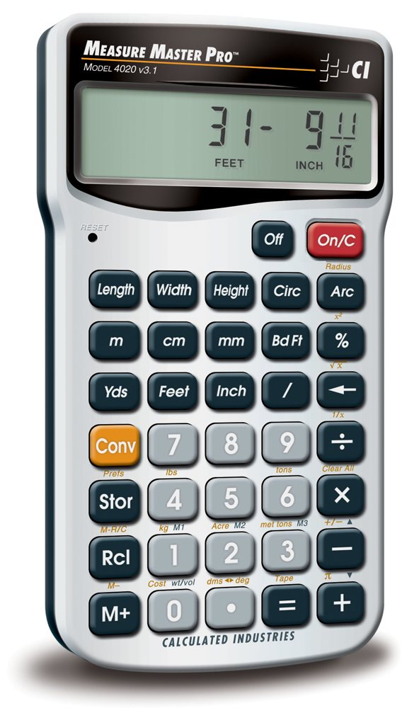 calculated industries 4020 measure master pro measurement conversion calculator. Black Bedroom Furniture Sets. Home Design Ideas