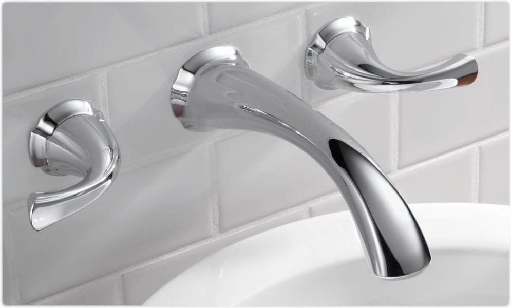 wall mount lavatory faucet chrome touch on bathroom sink faucets