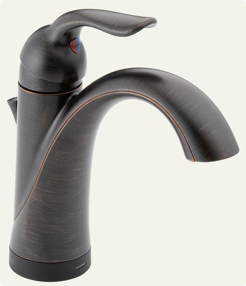 Bathroom Single Handle Faucet : Delta 538T-RB-DST Lahara Single Handle Lavatory Faucet with Touch2O.xt ...
