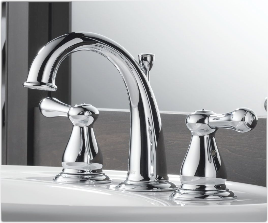 delta 3575lf leland two handle widespread lavatory faucet chrome