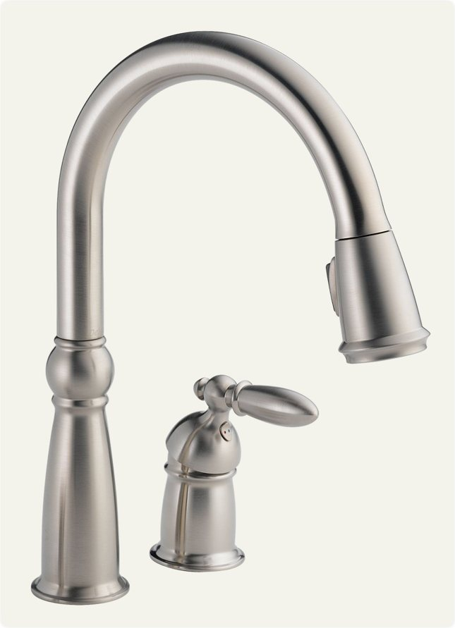 Delta 955-SS-DST Victorian Single Handle Pull-Down Kitchen