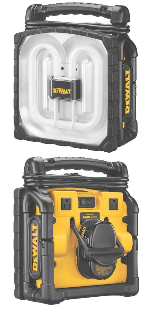 DEWALT DC020 Cordless/Corded Worklight - Portable Work ...