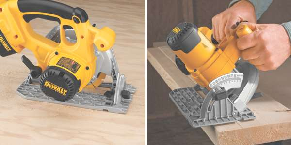dewalt DCS390L duo sm Cheap DEWALT DCS390L  18 Volt Cordless XRP Lithium Ion Circular Saw Kit