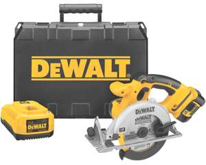 dewalt DCS390L main sm Cheap DEWALT DCS390L  18 Volt Cordless XRP Lithium Ion Circular Saw Kit