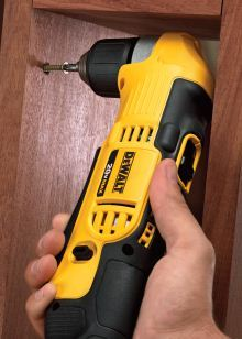 DEWALT DCD740C1 20-volt max lithium-ion compact 1.5 Ah right angle drill