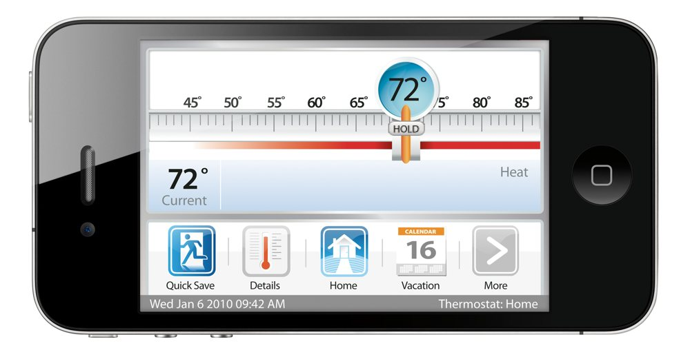 ecobee Smart Thermostat 4 Heat-2 Cool with Full Color Touch Screen
