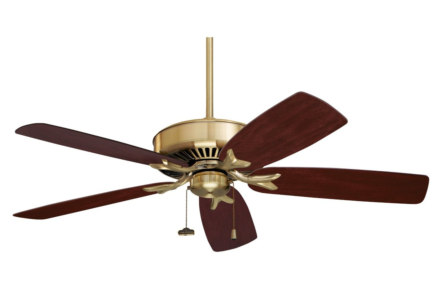 This traditional, indoor ceiling fan features accent lighting to cast ...