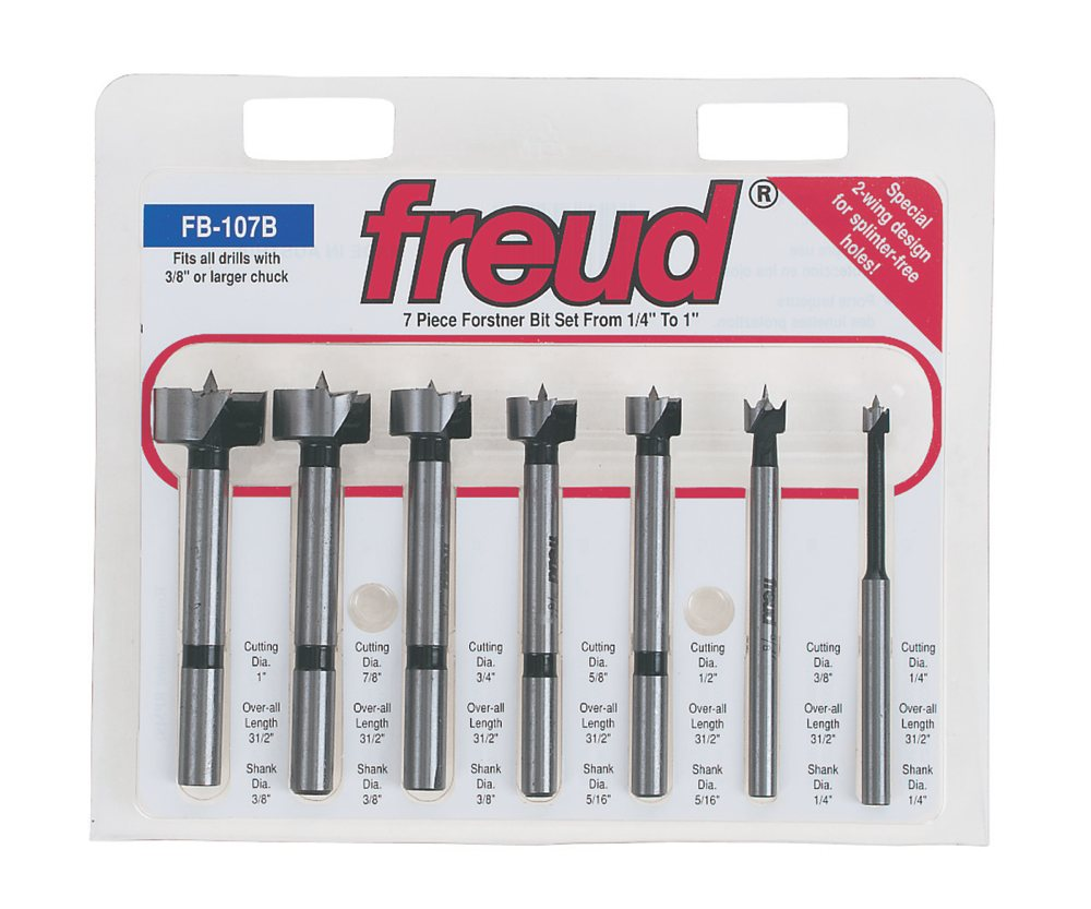 Amazon Com Freud Fb 107 7 Piece Forstner Drill Bit Set