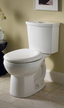 H2Option dual-flush round-front toilet