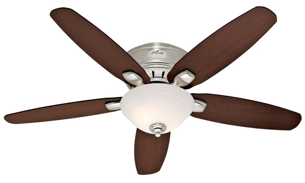 Hunter 28701 Fremont 52-Inch 5-Blade Single Light Ceiling Fan, Brushed ...