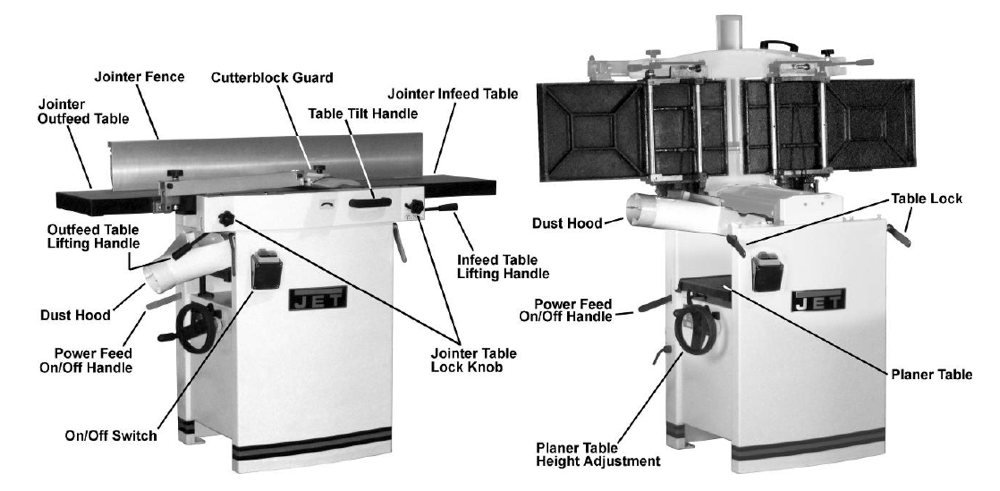 jointer planer combo machines