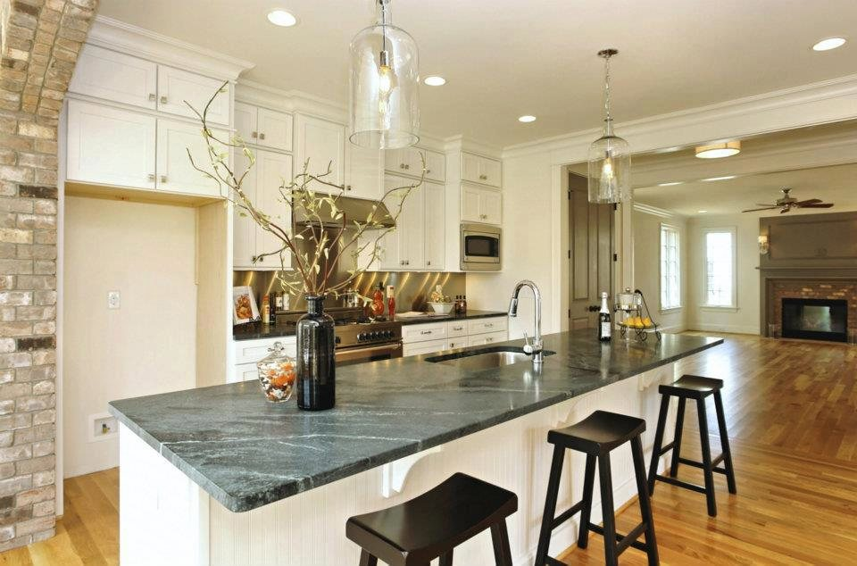Kenroy home 91830clr capri 1 light pendant clear finish for Kitchen spotlights amazon