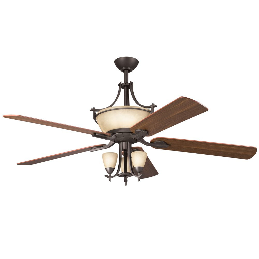 Kichler Lighting 300011OZ 60-Inch Olympia Ceiling Fan, Old Bronze ...