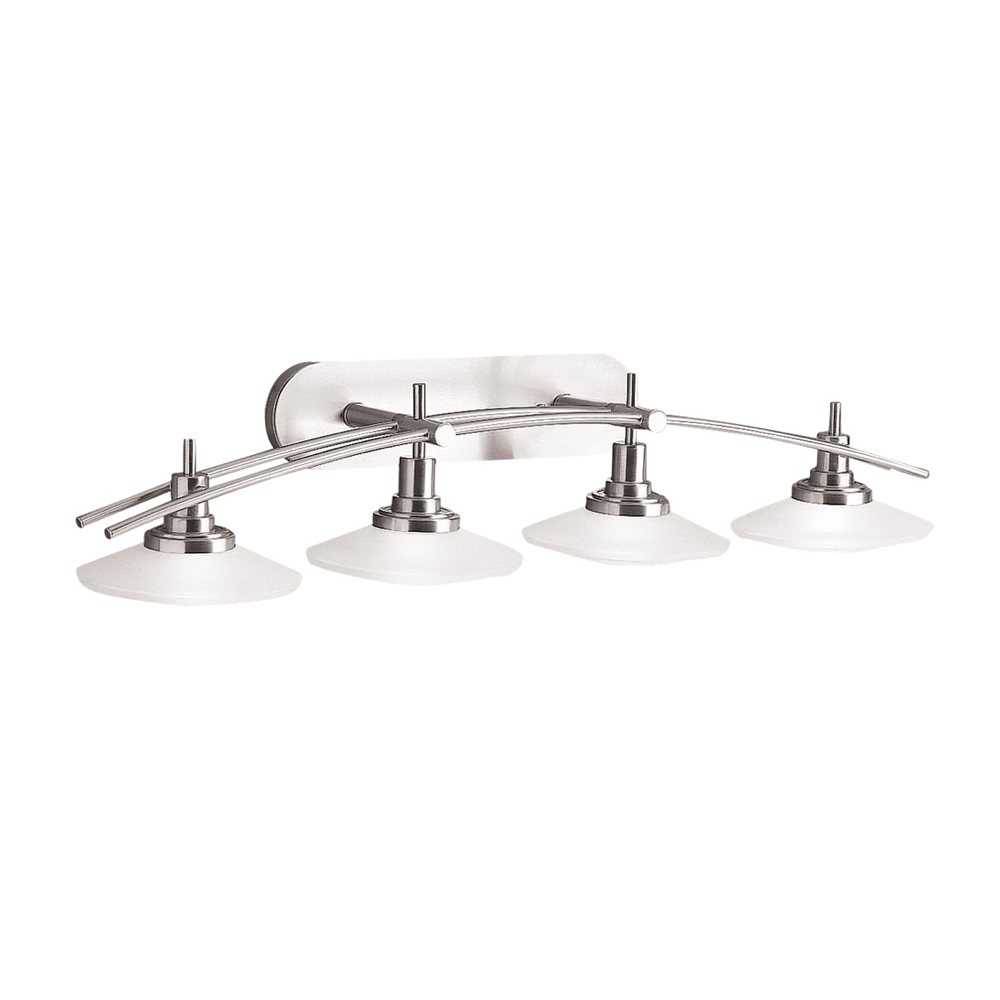 Kichler lighting 6464oz structures 4 light halogen wall for 4 light bathroom fixture