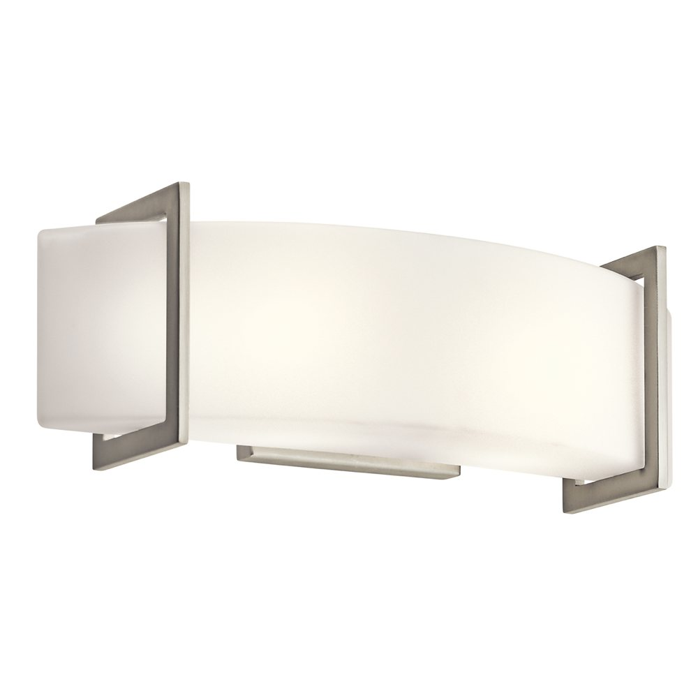 Kichler lighting 45218ni crescent view 2 light bath for Bathroom lighting fixtures