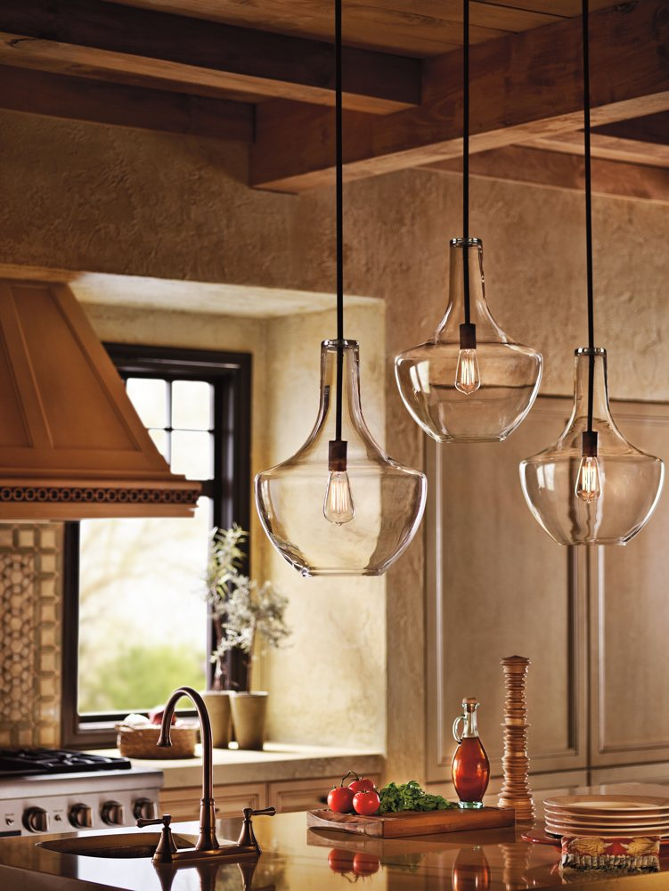 Kichler Lighting 42046OZ Everly 1 Light Pendant Old Bronze Finis