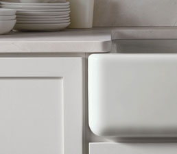 Kohler Whitehaven self-trimming apron-front single-basin sink