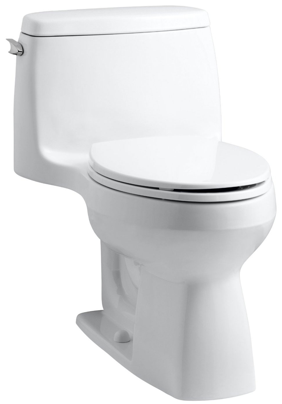 Kohler's Santa Rosa one-piece toilet has a small footprint and loads