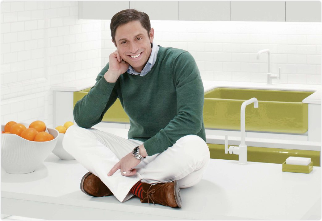 Kohler k 6489 47 whitehaven self trimming apron front single basin sink with tall - Jonathan adler sink ...